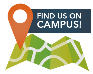Find us on campus!