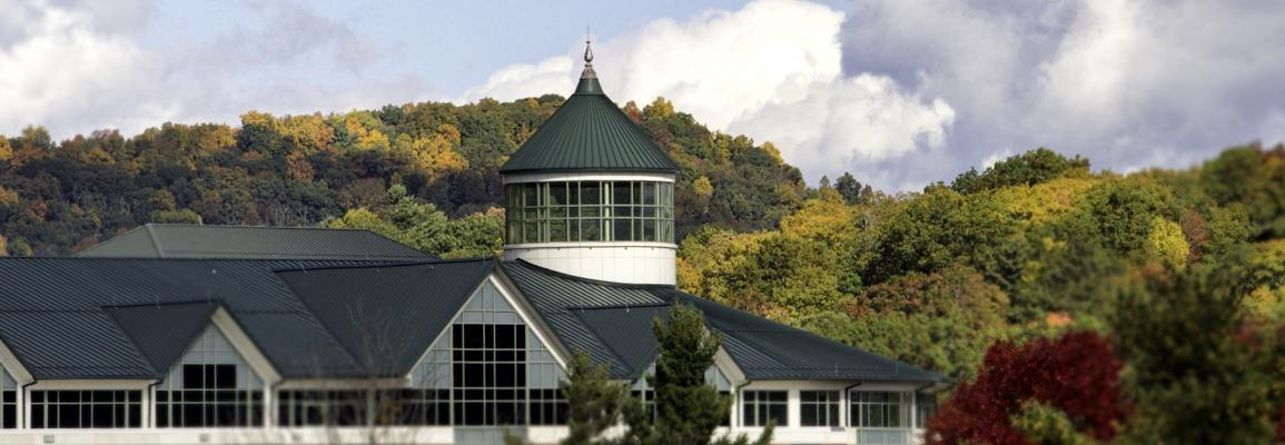 Belk Library in autumn