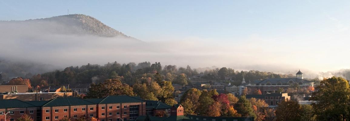 Fall panoramic view of ASU campus